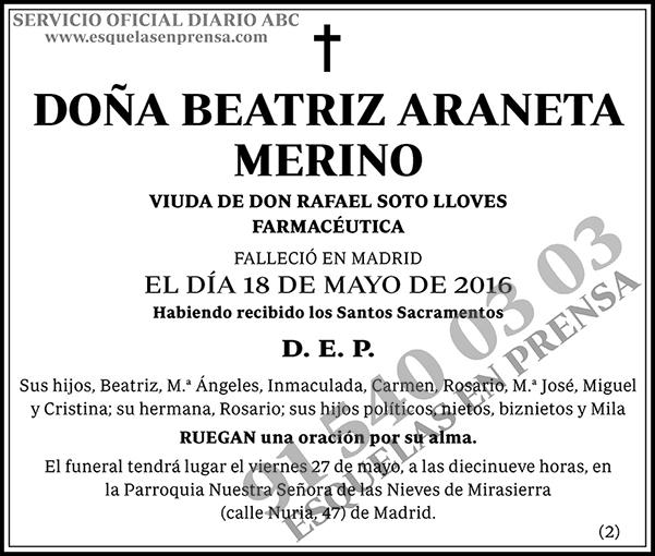 Beatriz Araneta Merino